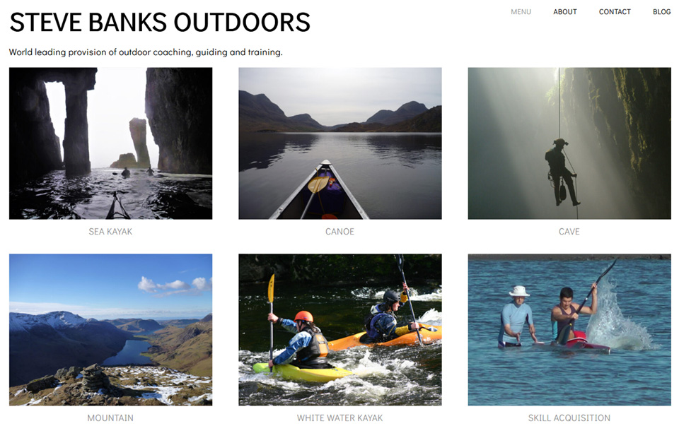 Steve Banks Outdoors New Website